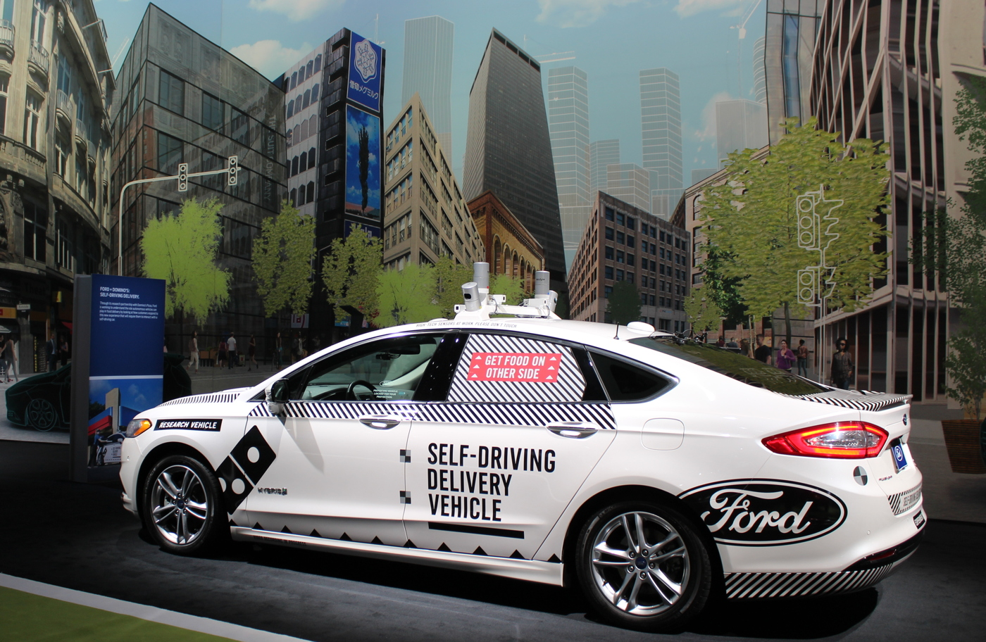 Ford Fusion Self-Driving Delivery Prototype