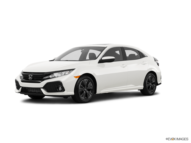 New 2018 Honda Civic Hatchback Sport White Orchid Pearl / Blk/Ivory Fabric