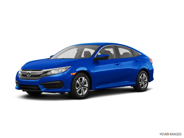 New 2018 Honda Civic Coupe LX Aegean Blue Metallic / Blk Gry